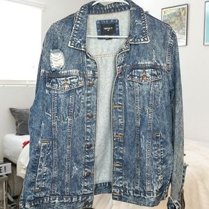Forever 21 Jackets & Coats - Distressed Denim Jacket